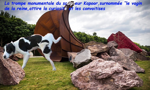 Dirty corner/le vagin de la reine/Kapoor/art contemporain