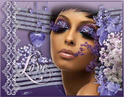 Lavender lace and love     de Arasimages