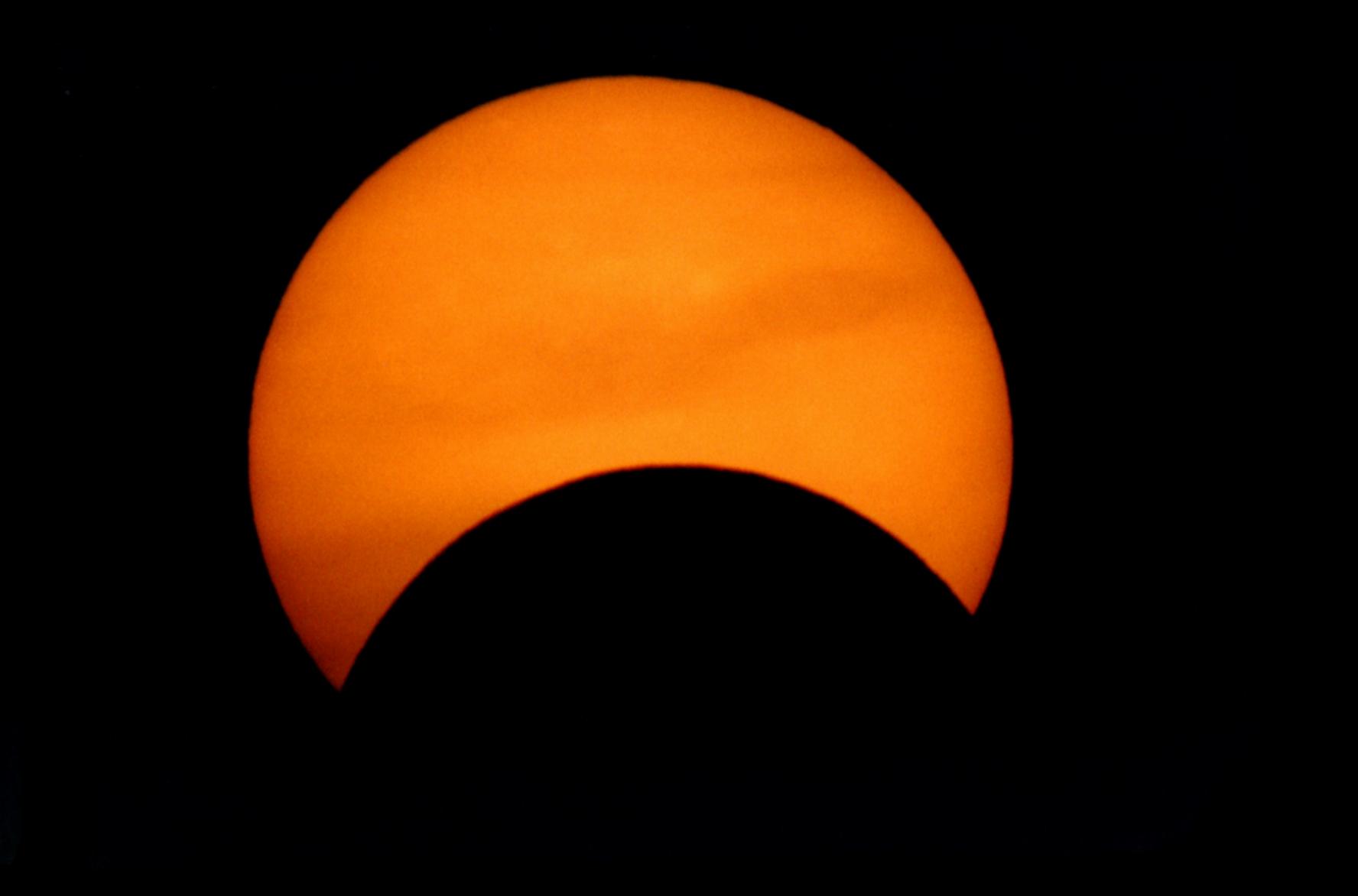 éclipse partielle 1994 au C8