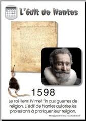 1598 Henri IV et d'Edit de Nantes