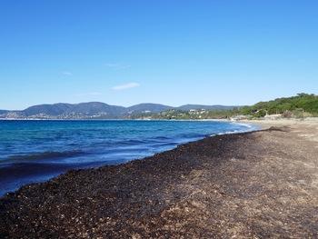 Départ de la plage de Gigaro