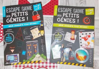 Escape game des petits génies