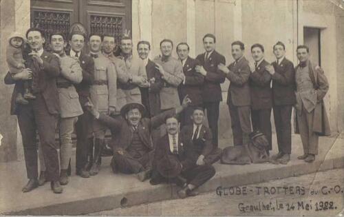 Carte postale des Fêtes de Saint-Projet avec le Castres Olympique !