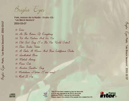 Le Choix des Lecteurs # 106: Bright Eyes - Black Session - 7 mars 2005