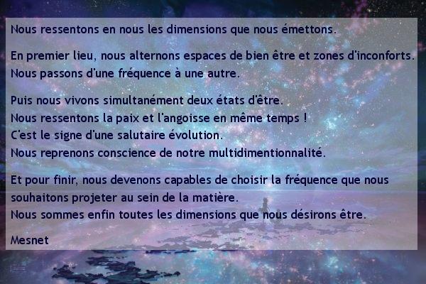 5 : Deux dimensions superposées