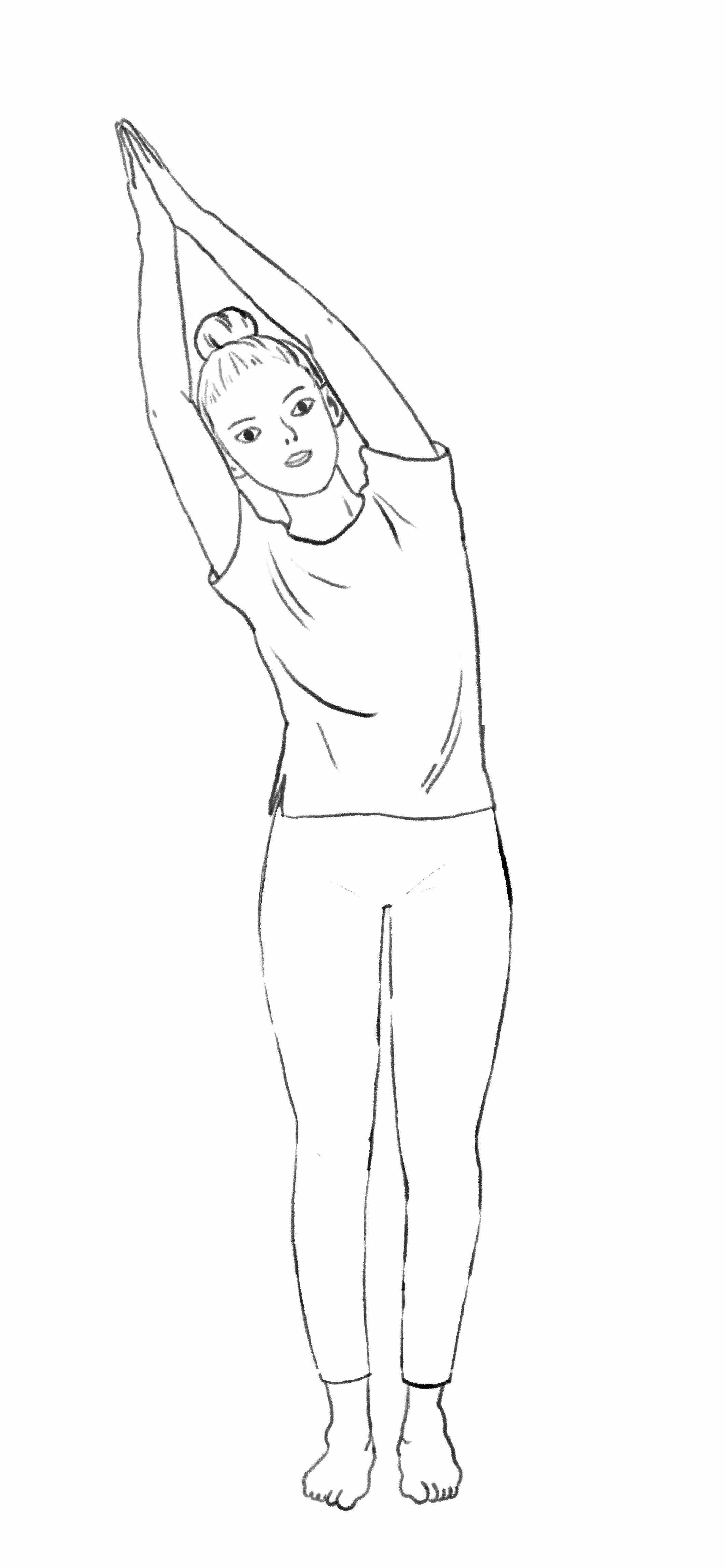 Yoga debout 1. Roseau latéral