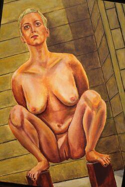 N° 12 nue avec les mains dans le dos