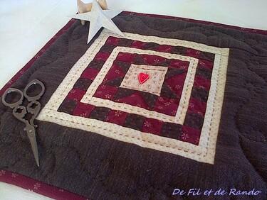 Mini quilt Avril