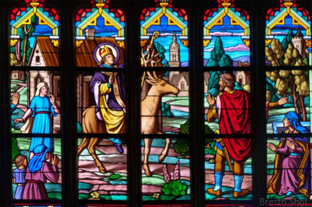 Saint-Théleau vitrail à Landeleau