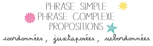 Phrase simple, phrase complexe