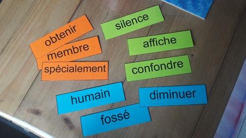 Cartes à tâche - Manipulation mots