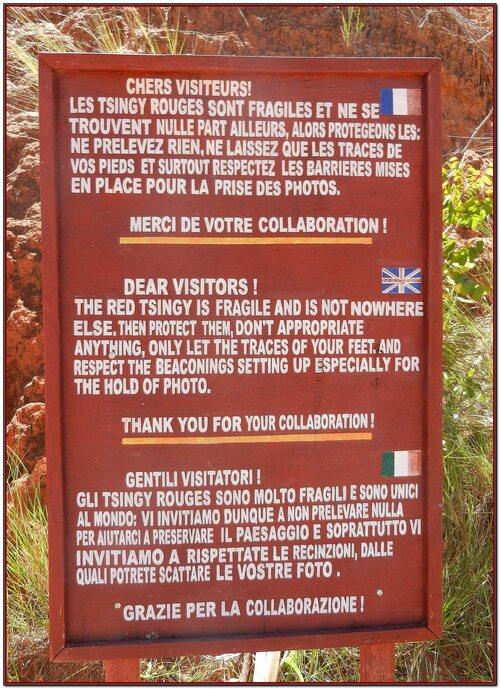 Les Tsingy rouge Madagascar