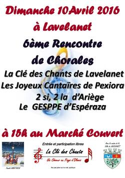 Lavelanet - Gesppe - Clé des chants - Les Joyeux Cantaïres - 2 si, 2 la