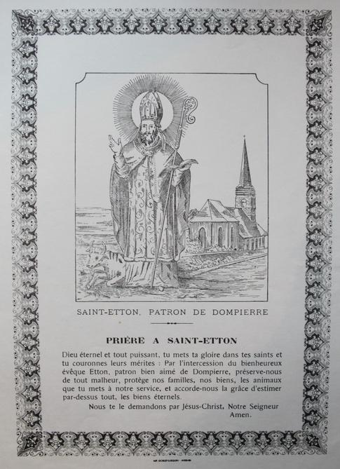 Prière à saint Etton
