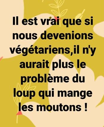 Il est vrai que si nous devenions végétariens...
