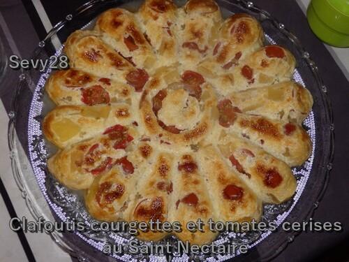 Clafoutis de courgettes et tomate cerise au St Nectaire (thermomix)