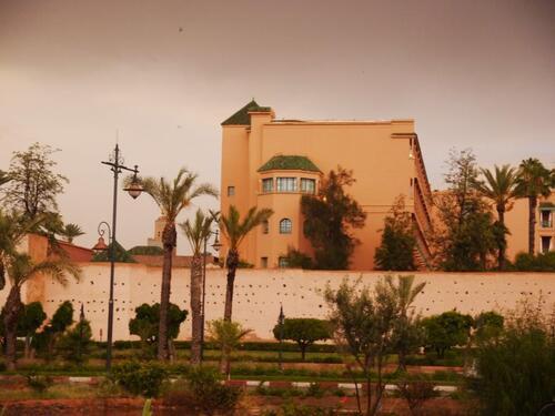 Les remparts et la Mamounia sous l'orage