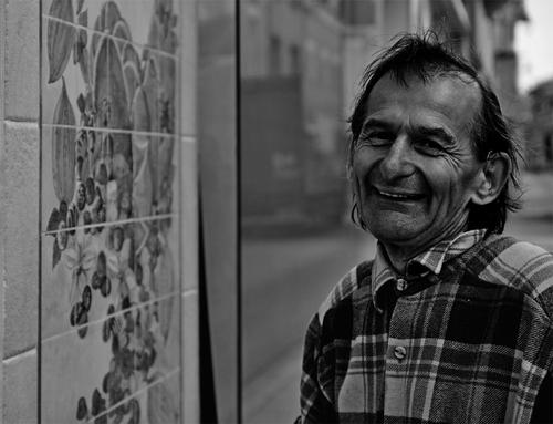 photo en noir et blanc de Christian Lamy artiste peintre
