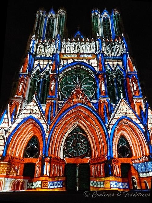 Spectacle de nuit sur la Cathédrale de Reims - 1