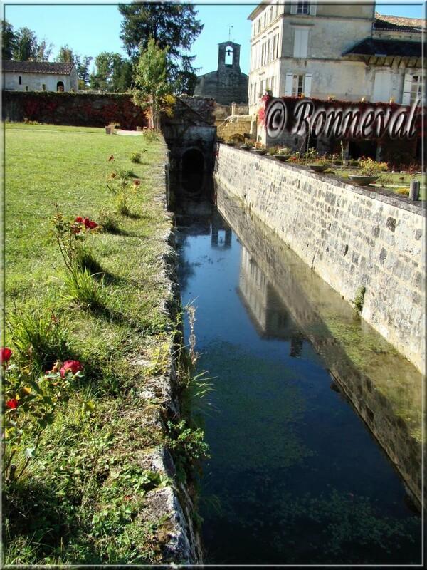 Abbaye de Fontdouce 12 ème siècle Charente-Maritime le canal dans les jardins