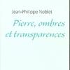 Pierre ombres et transparences 1ère de couv
