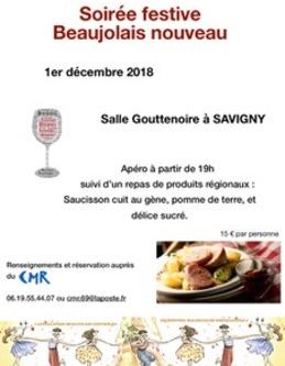 Soirée festive Beaujolais Nouveau