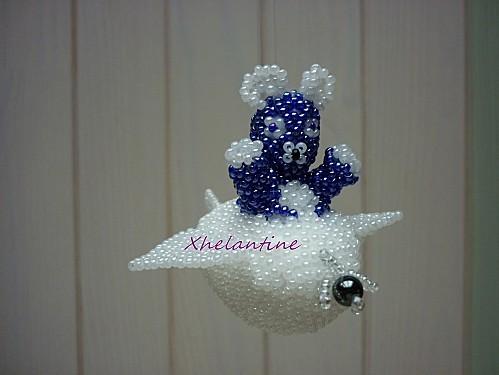 ourson bleu aviateur 1