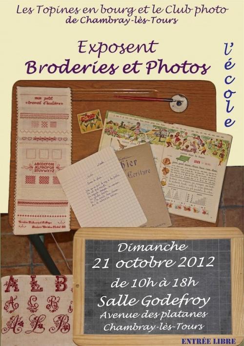 Exposition de broderie à Chambray lès Tours