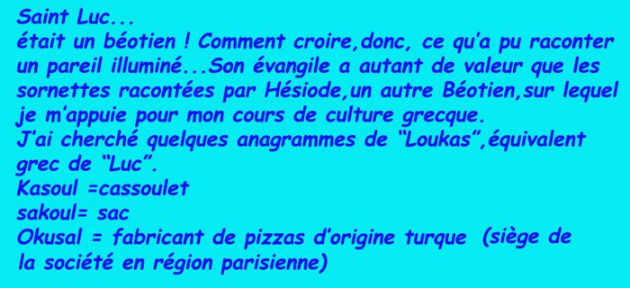 Saint du 18 octobre/ Luc/Lucas