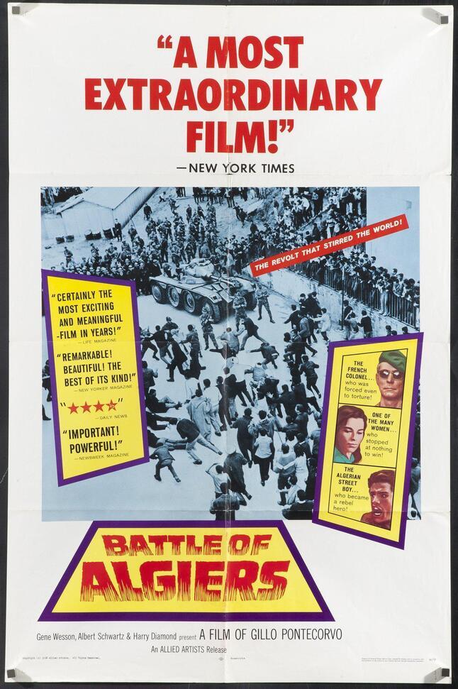 LA BATAILLE D'ALGER - LA BATTAGLIA DI ALGERI BOX OFFICE USA 1967