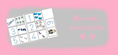 1P/2P - Dominos numération