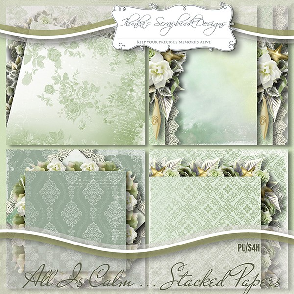 """All Is Calm"" by Ilonka's Scrapbook Designs"