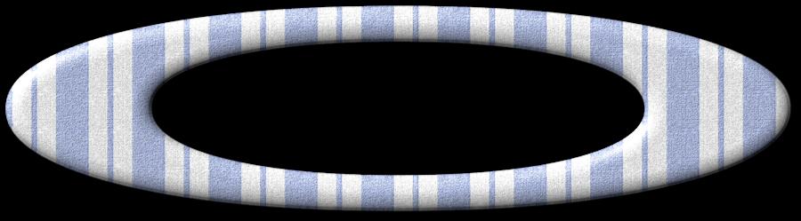 "Cadres ovales rayés ""marine"""