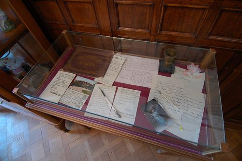 Items written by and belonging to members of the Imperial family on display at Livadia.