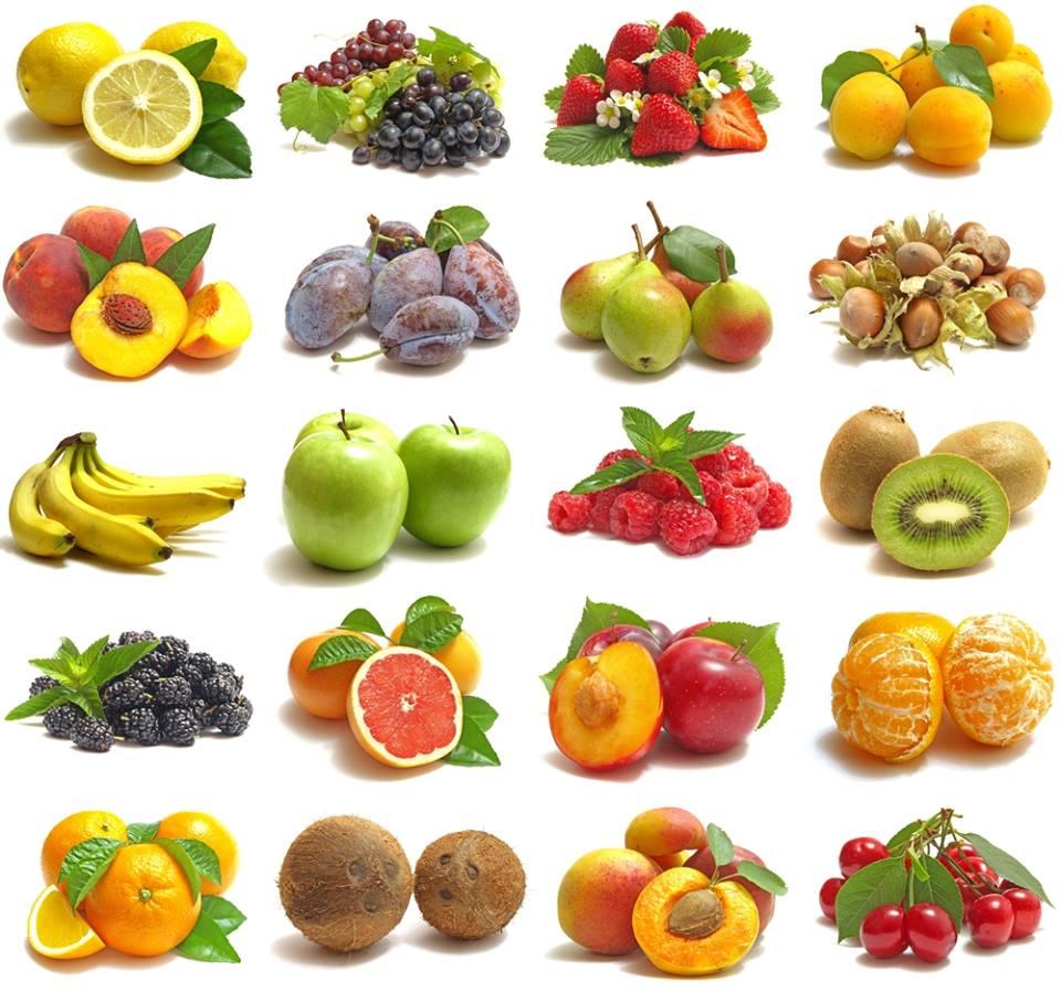 Fruits alignés