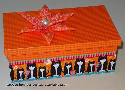 Cartonnage :  boite à couture