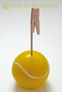 sujet décoratif balle tennis réalisé dans un moule en silicone - Arts et sculpture: moules et modèles, sculpteur à façon