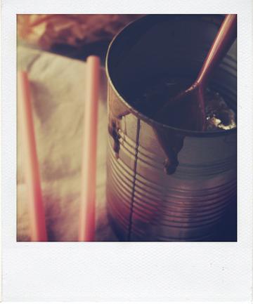 Glace au chocolat au lait et chamallow