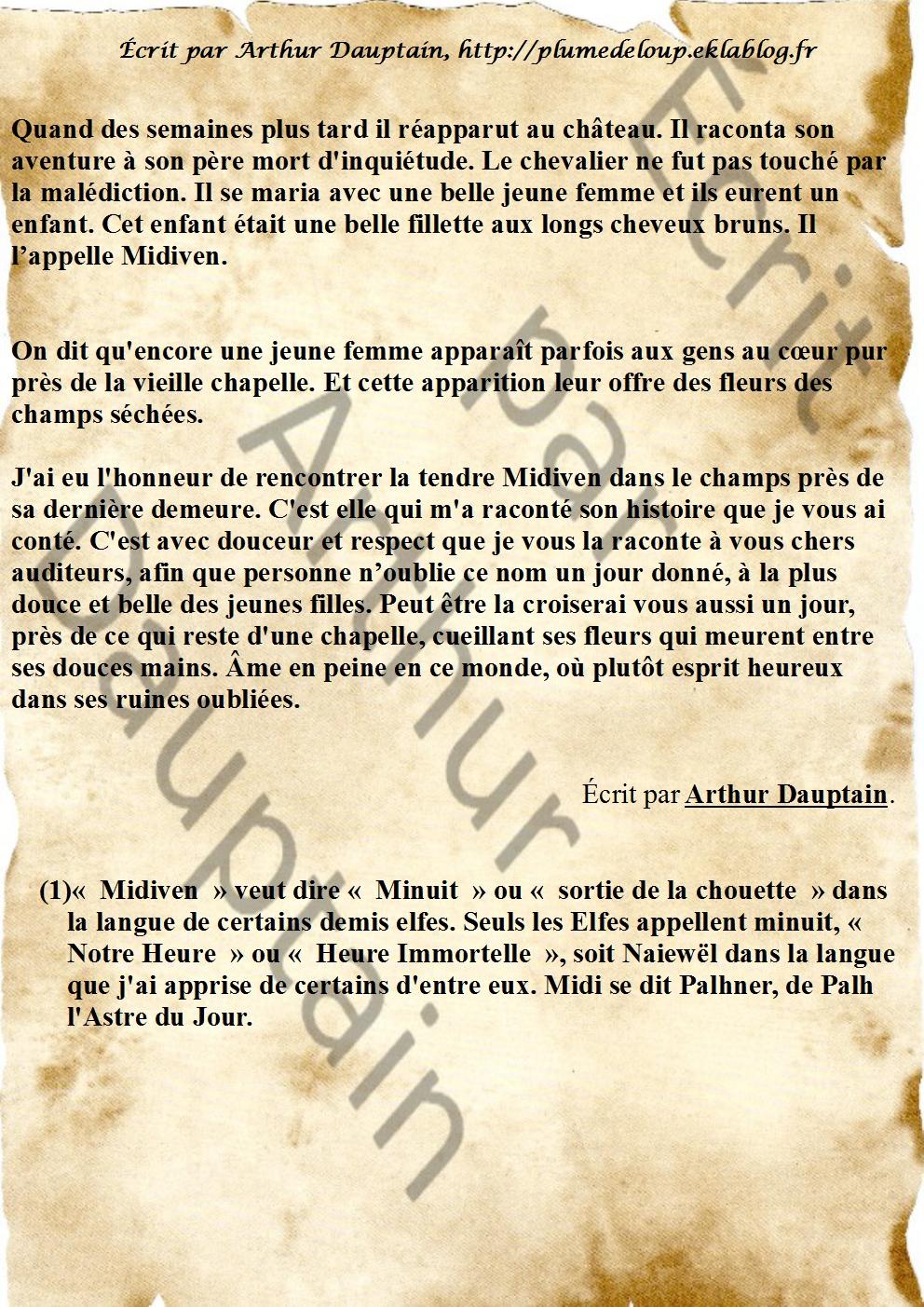 Midiven, la Douce Histoire de Fantôme.