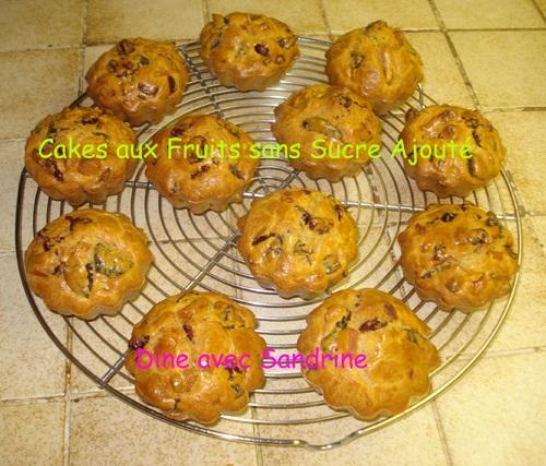 Des Cakes aux Fruits sans sucre ajouté de Marie Chioca