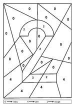 colorier les nombres : 1 à 9