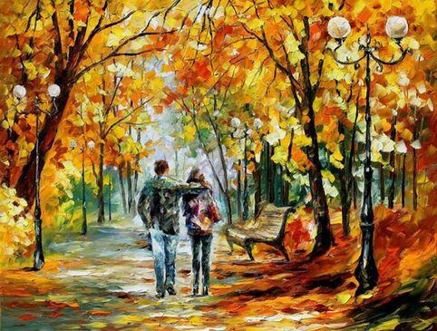 """Résultat de recherche d'images pour """"automne peinture afremov"""""""