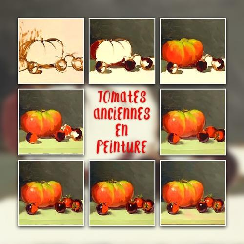 Dessin et peinture - vidéo 3316 : Comment peindre des tomates anciennes avec des couleurs complémentaires ? - huile ou acrylique.