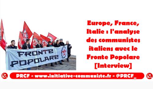 Europe, France, Italie : l'analyse des communistes italiens avec le Fronte Popolare [Entretien]