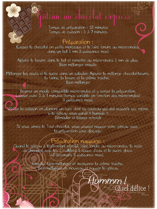 - Gâteau au chocolat express