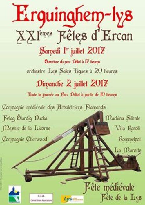 Les loisirs à Arras et ses environs ces 1 et 2 juillet.