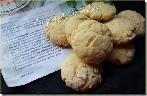Biscuits semoule au citron