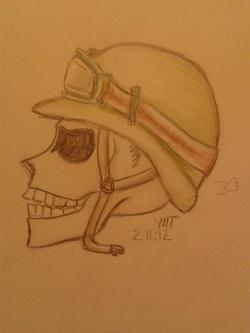 le crâne soldat