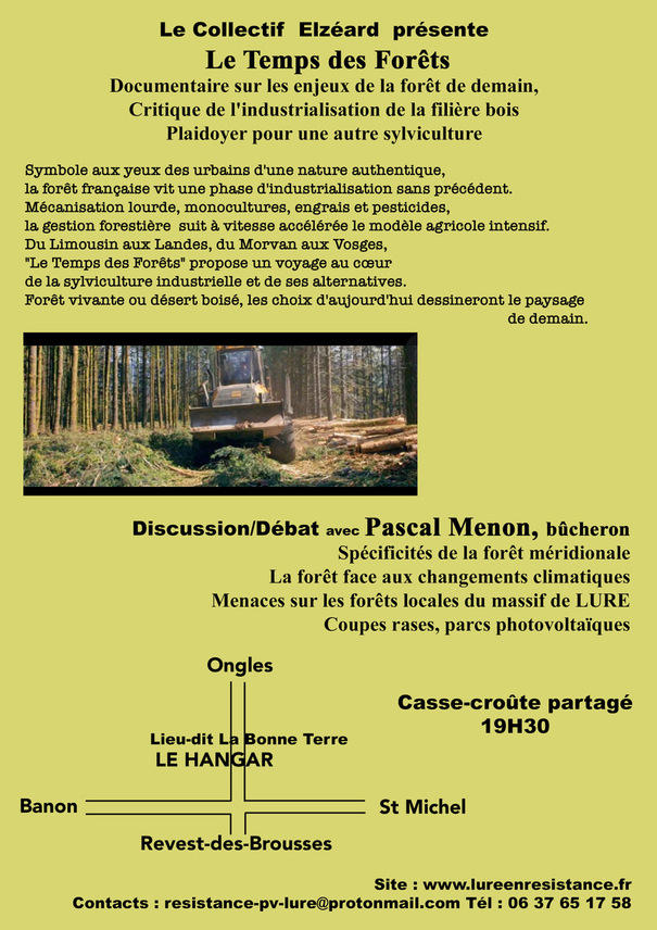 *[elzeard] Projection/discussion le Vendredi 13 Aout à Revest des brousses.