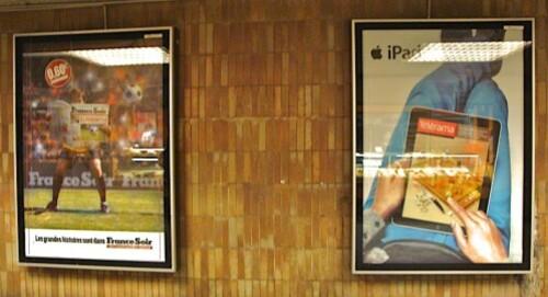 iPad FranceSoir affiche métro 2